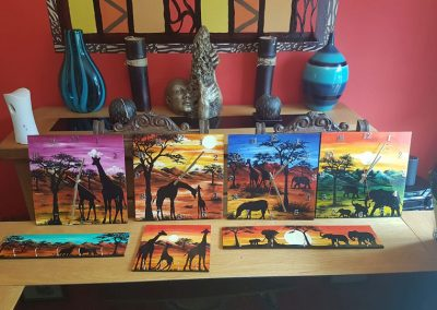 African art clocks and key holder